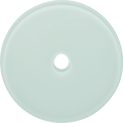 109009 Glass cover plate for rotary switch/spring-return push-button Serie Glas