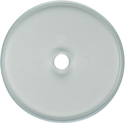 109030 Glass cover plate for rotary switch/spring-return push-button Serie Glas