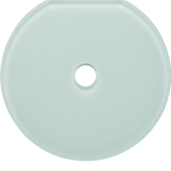 109409 Glass cover end plate for rotary switch/spring-return push-button Serie Glas