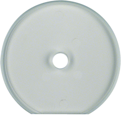 109430 Glass cover end plate for rotary switch/spring-return push-button Serie Glas,  clear glossy