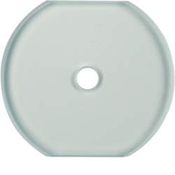 1095 Glass cover centre plate for rotary switch/spring-return push-button Serie Glas,  clear glossy