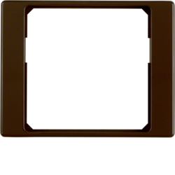 11080101 Adapter ring for centre plate 50 x 50 mm Berker Arsys,  brown glossy