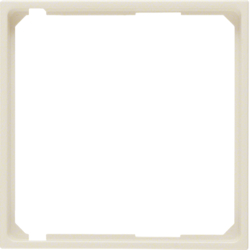 11098982 Intermediate ring for central plate Berker S.1, white glossy