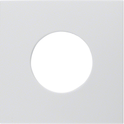 11248989 Centre plate for push-button/pilot lamp E10 Berker S.1/B.3/B.7, polar white glossy