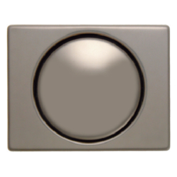 11340001 Centre plate for rotary dimmer/rotary potentiometer with setting knob,  Berker Arsys,  light bronze matt,  aluminium lacquered