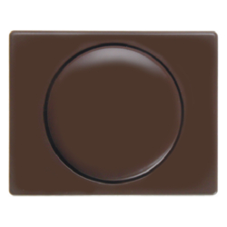 11350001 Centre plate for rotary dimmer/rotary potentiometer with setting knob,  Berker Arsys,  brown glossy