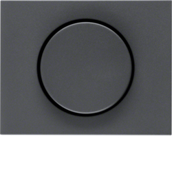 11357006 Centre plate for rotary dimmer/rotary potentiometer with setting knob,  Berker K.1, anthracite matt,  lacquered