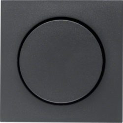 11371606 Centre plate for rotary dimmer/rotary potentiometer with setting knob,  Berker S.1/B.3/B.7, anthracite,  matt