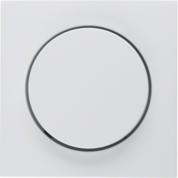 11371909 Centre plate for rotary dimmer/rotary potentiometer with setting knob,  Berker S.1/B.3/B.7, polar white matt