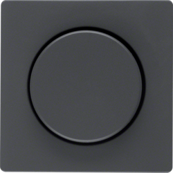 11376086 Centre plate for rotary dimmer/rotary potentiometer with setting knob,  Berker Q.1/Q.3, anthracite velvety,  lacquered
