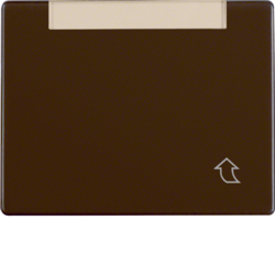 11400001 Hinged cover,  flat with labelling field,  Berker Arsys,  brown glossy