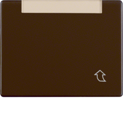 11410001 Hinged cover,  high with labelling field,  Berker Arsys,  brown glossy