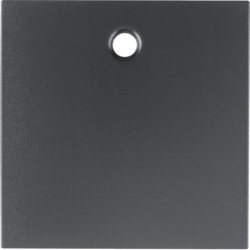 11461606 Centre plate for pullcord switch/pullcord push-button Berker S.1/B.3/B.7, anthracite,  matt