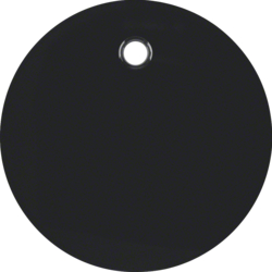 11462045 Centre plate for pullcord switch/pullcord push-button Berker R.1/R.3, black glossy