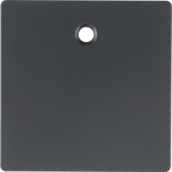 11466086 Centre plate for pullcord switch/pullcord push-button Berker Q.1/Q.3, anthracite velvety,  lacquered