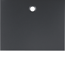 11477006 Centre plate for pullcord switch/pullcord push-button Berker K.1, anthracite matt,  lacquered