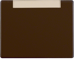 11650001 Centre plate for push-button/pilot lamp E10 with labelling field,  Berker Arsys,  brown glossy