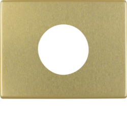 11650102 Centre plate for push-button/pilot lamp E10 Berker Arsys,  gold matt,  aluminium anodised