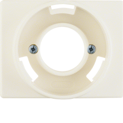 11670002 Centre plate for pilot lamp E14 Berker Arsys,  white glossy