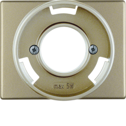 11679011 Centre plate for pilot lamp E14 Berker Arsys,  light bronze matt,  lacquered