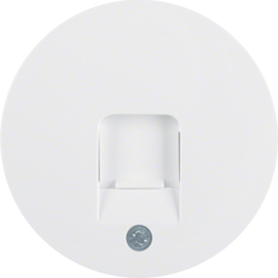 11702089 Centre plate with dust protection slider Labelling field,  polar white glossy