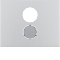 11847003 Centre plate for loudspeaker socket outlet Berker K.5, Aluminium,  aluminium anodised