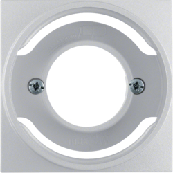 11981404 Centre plate for pilot lamp E14 Berker S.1/B.3/B.7, aluminium,  matt,  lacquered