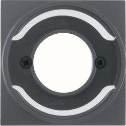 11981606 Centre plate for pilot lamp E14 Berker S.1/B.3/B.7, anthracite,  matt