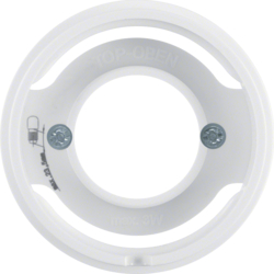 11982089 Centre plate for pilot lamp E14 Berker R.1/R.3, polar white glossy