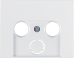 12017019 Centre plate for aerial socket 2-/3hole polar white glossy