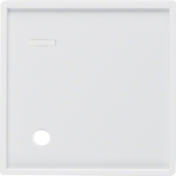 12336089 Centre plate for pullcord push-button with lens,  Berker Q.1/Q.3/Q.7/Q.9, polar white velvety