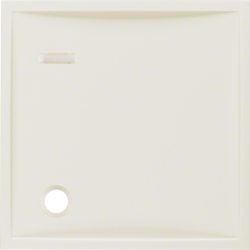 12338982 Centre plate for pullcord push-button with lens,  white glossy