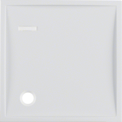 12338989 Centre plate for pullcord push-button with lens,  Berker S.1/B.3/B.7, polar white glossy