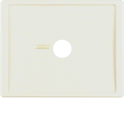 12360002 Centre plate for pneumatic call switch with lens,  Berker Arsys,  white glossy