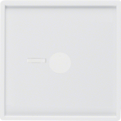 12366089 Centre plate for pneumatic call switch with lens,  Berker Q.1/Q.3/Q.7/Q.9, polar white velvety