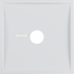 12368989 Centre plate for pneumatic call switch with lens,  polar white glossy