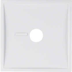12369909 Centre plate for pneumatic call switch with lens,  Berker S.1/B.3/B.7, polar white matt