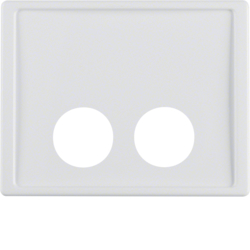 12380069 Centre plate with 2 plug-in openings for call unit Berker Arsys,  polar white glossy