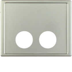 12389004 Centre plate with 2 plug-in openings for call unit Berker Arsys,  stainless steel matt,  lacquered