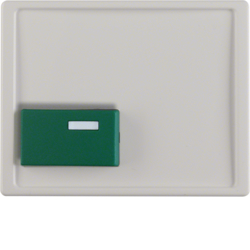 12510069 Centre plate with green button Berker Arsys,  polar white glossy