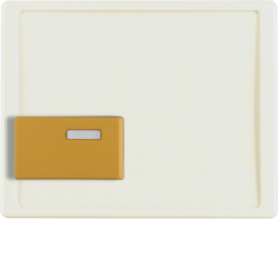 12520002 Centre plate with yellow button Berker Arsys,  white glossy