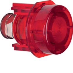 1279 Knob for push-button/pilot lamp E10 red,  transparent
