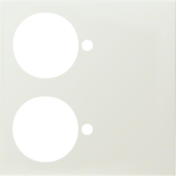 12888912 Centre plate for call unit with 2 push-buttons white glossy