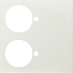 12888952 Centre plate for pneumatic call switch white glossy
