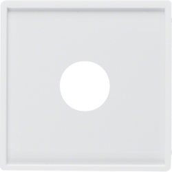 12986089 Centre plate with plug-in opening for nurse call systems Berker Q.1/Q.3, polar white velvety