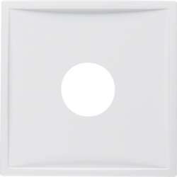 12989909 Centre plate with plug-in opening for nurse call systems Berker S.1/B.3/B.7, polar white matt