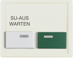 12990002 Centre plate with white + green button Berker Arsys,  white glossy
