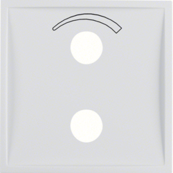 13008989 Centre plate with imprinted symbol curve for small sound system polar white glossy