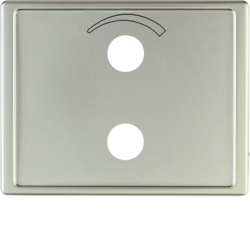 13009014 Centre plate with imprinted symbol curve for small sound system Berker Arsys,  stainless steel matt,  lacquered