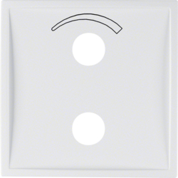 13009909 Centre plate with imprinted symbol curve for small sound system Berker S.1/B.3/B.7, polar white matt